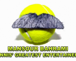 This mustachioed man is awesome at tennis